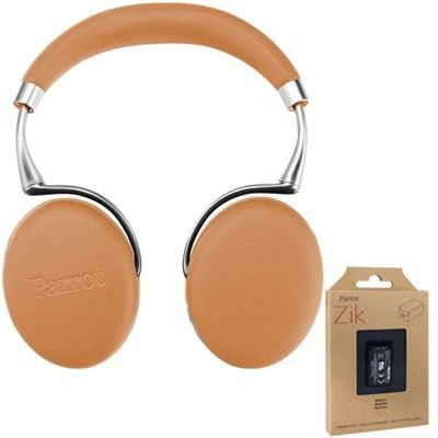 Parrot Zik 3 Wireless Noise Cancelling Bluetooth Headphones (Camel) + Battery