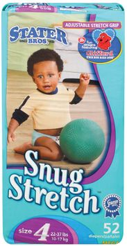 Stater bros Snug Stretch Size 4 2 Diapers 52 Ct Package