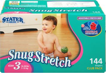 Stater Bros.® Snug Stretch Size 3 Diapers Club Pack 144 ct. Box