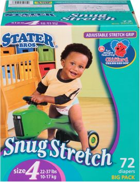 Stater bros Snug Stretch™ Diapers Size 4 2 Big Pack 72 ct Box