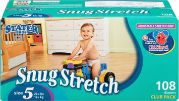 Stater Bros.® Snug Stretch Size 5 Diapers 108 ct. Box