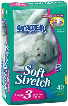 Stater bros Ultra Soft Stretch Stage 3 1 Diapers 40 Ct Bag