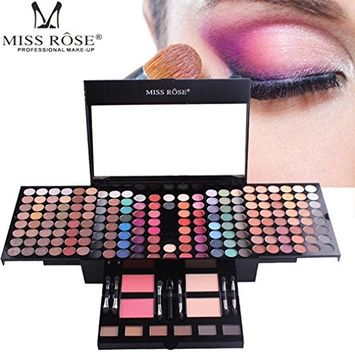 Memela MISS ROSE Makeup Lip Long Lasting 180 Color Waterproof Eye Shadow Set