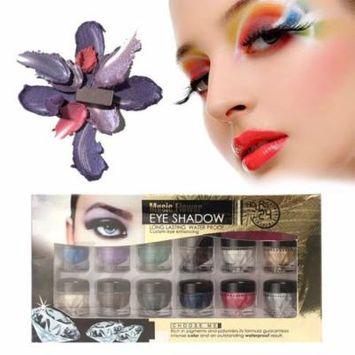 12 Color Eyes Makeup Cream Highlight Eye Shadow Powder Shimmer Glitter