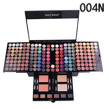 Tuu Long Lasting 180 Color Professional Sparkly Glitter Shimmer Waterproof Eye Shadow Palette Eyeshadow Lip Cosmetic Makeup Set for Daily Use