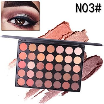 35 Colors Makeup Matte Eyeshadow Palette Naked Glitter Shimmer Natural Nude Pigment Eye Shadow Pallete Set Waterproof Smokey Professional Cosmetic Kit by DMZing (MES-C)