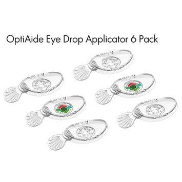 OptiAide 6 Pack - Eye drop applicator - eye drop guide + flush + massage