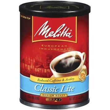 Melitta Classic Lite Medium Roast Ground Coffee, 11.5-Ounce Cans (Pack of 4)