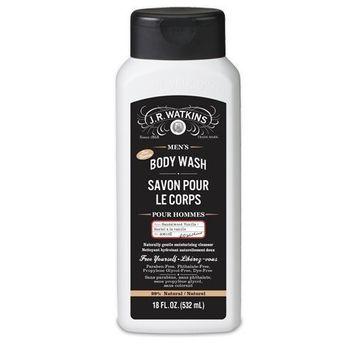 J.R. Watkins Men's Body Wash, Sandalwood Vanilla, 18 ounces