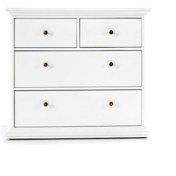 Maison Park 4-Drawer Dresser, White