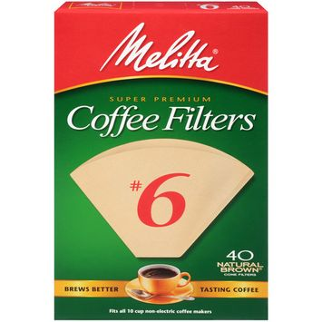 Melitta #6 Natural Brown Cone Coffee Filter, 40 Ct (Pack of 3)