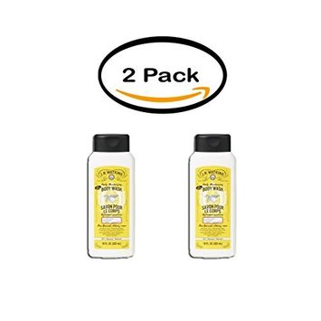 PACK OF 2 - JR Watkins Lemon Cream Body Wash, 18 Fl Oz