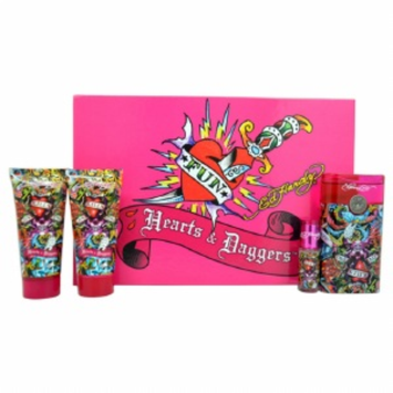 Ed Hardy Hearts & Daggers Gift Set for Women, 4 Piece, 1 set