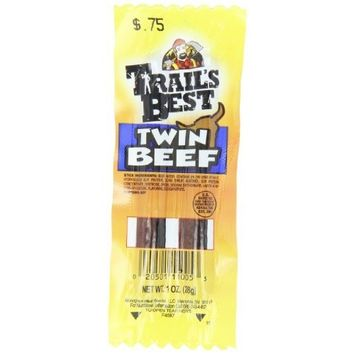 Trail's Best Twin Sticks, Beef, 1-Ounce (Pack of 20)