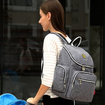 Baby Diaper Bag Mommy Bag Travel Backpack With Stroller Straps Large Capacity Thermal Insulated Maternity Shoulder Bag