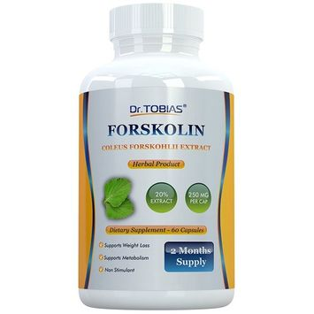 Dr. Tobias Forskolin - Coleus Forskohlii - Standardized to 20%- Supports Weight Loss