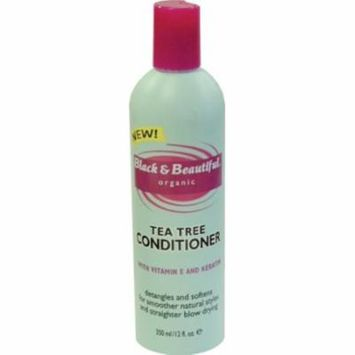Black & Beautiful Tea Tree Conditioner 12 oz. (Pack of 6)