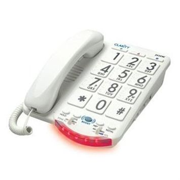 Clarity-Jv-35W - Amplified Big Button Phone White Keys