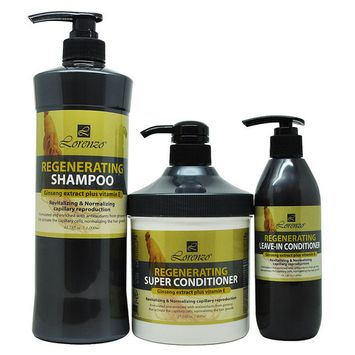 Lorenzo Regenerating Shampoo 1000 ml + Super Conditioner 800 ml + Leave-in 300ml