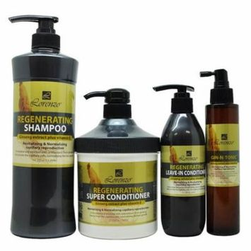 Lorenzo Regenerating Shampoo + Super Conditioner + Leave-in + Gin-N-Tonic