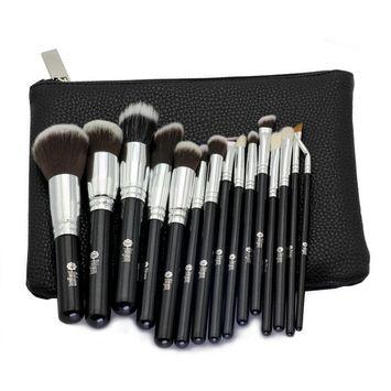 FEIYAN Makeup Brushes Premium Makeup Brush Set Natural Goat Synthetic Cosmetics Kabuki Foundation Blending Blush Face Eyeshadow Eyeliner Concealer Powder Brush Kit...