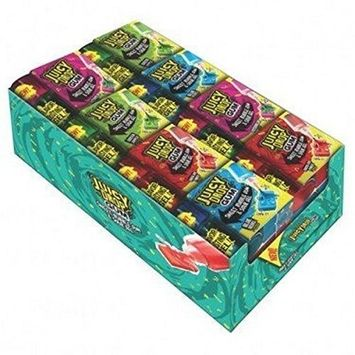 Bazooka Topps Juicy Drop Gum Wallet, 16 Piece [Assorted Sweet & Sour Flavors]