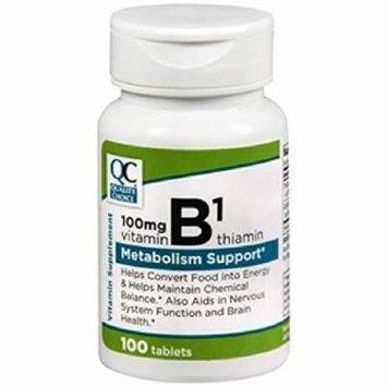 Quality Choice Vitamin B-1 Metabolism Support 100mg 100 Tablets Each