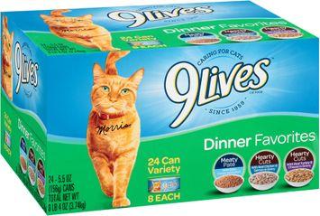 9Lives Dinner Favorites Wet Cat Food Variety Pack