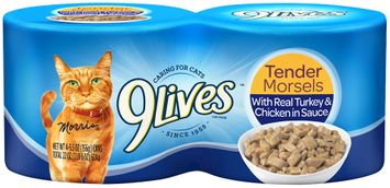9Lives Tender Morsels with Real Turkey & Chicken in Sauce Wet Cat Food
