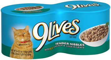 9Lives® Tender Nibbles with Real Chicken & Liver in Gravy Wet Cat Food