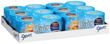 9lives hearty cuts with real ocean whitefish & tuna in gravy wet cat food
