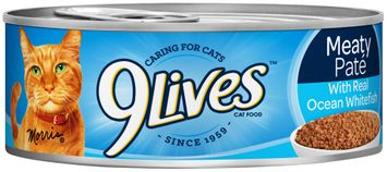 9Lives Meaty Pate with Real Ocean Whitefish Wet Cat Food
