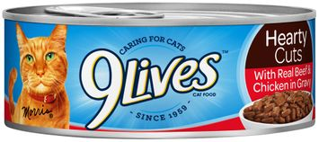 9Lives Hearty Cuts with Real Beef & Chicken in Gravy Wet Cat Food
