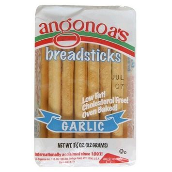 Angonoa Breadsticks Garlic 3.25oz(Pack of 2)