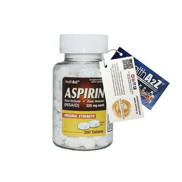 HeahlthA2Z Aspirin 325mg, 300-count,Compare to Bayer® Active Ingredients