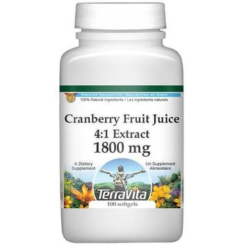 Extra Strength Cranberry Fruit Juice 4:1 Extract - 450 mg (100 capsules, ZIN: 514161)