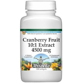 Extra Strength Cranberry Fruit Juice 10:1 Extract - 450 mg (100 capsules, ZIN: 512972)