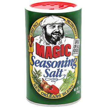 Chef Paul Prudhomme's Magic New Orleans Blend Seasoning Salt, 7 oz (Pack of 6)