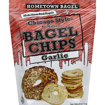 Hometown Bagel Chicago Style Garlic Bagel Chips, 6 oz, (Pack of 12)