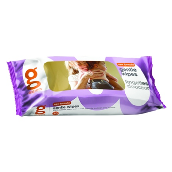 gDiapers Gentle Wipes, unscented, 70 ea