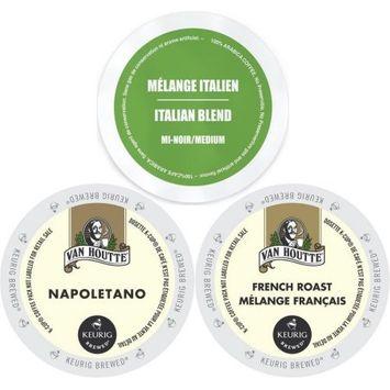Faro Roasting Houses Van Houtte European Coffee K-Cup Variety Pack, 72 ct Sampler - Van Houtte Napoletano & French Roast, Faro Italian Medium Roast