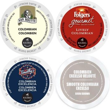 Faro Roasting Houses Colombian Roast K-Cup Coffee 96 count Variety Pack: Folgers, Van Houtte, Faro Smooth Colombian & Timothy's Colombian Excelencia