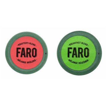 Faro Roasting Houses FARO Roaster's Blend & Breakfast Blend Coffee, Fair Trade Certified, Compostable Single Serve Cup for Keurig Brewers, 24 Count