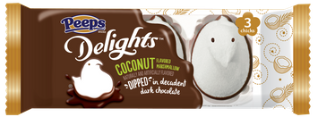 PEEPS® Delights™ Coconut Flavored Marshmallow Dipped in Dark Chocolate