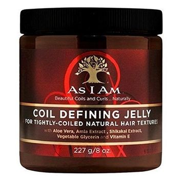 As I Am Coil Defining Jelly for Defining Tightly-coiled Natural Hair Textures 8oz by I AM