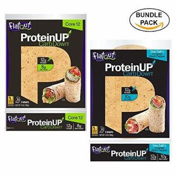 Variety Bundle: Flatout ProteinUP Core 12 and Sea Salt and Crushed Black Pepper