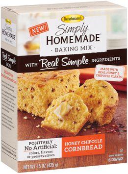 Fleischmann's® Simply Homemade® Honey Chipotle Cornbread Baking Mix