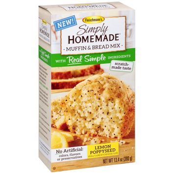 Fleischmann's® Simply Homemade® Lemon Poppyseed Muffin & Bread Mix