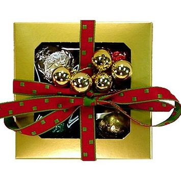 4 Gourmet Truffles in Gold Gift Box. Truffles Are Made Using Over 99% Organic Ingredients and Are Hormone & GMO Free.