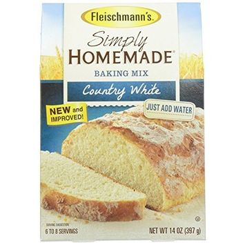 Fleischmann's Simply Homemade No Knead Bread Mix Country White 14 Oz (Pack of 2)